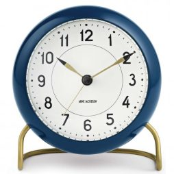 Arne Jacobsen - Station Alarm Clock - Petrol Blue RD-43678