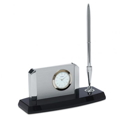 Contemporary Desk Clock and Pen - Citizen Clocks CC1004