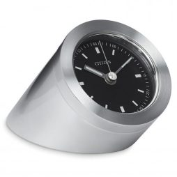 Citizen Brushed Metal Desk Clock CC1006