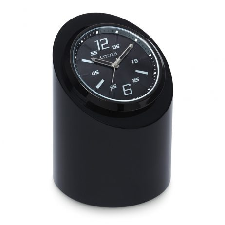 Circular Black Desk Clock - Citizen Clocks CC1010