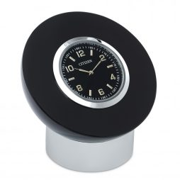 Black and Crystal Desk Clock - Citizen Clocks CC1011