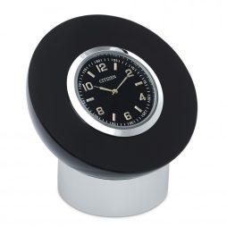 Black and Crystal Desk Clock - Citizen Clocks CC1011