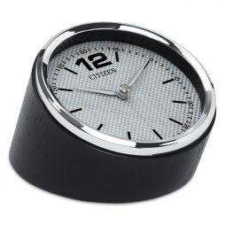 Circular Desk Clock Carbon Fiber Dial - Citizen Clocks CC1013