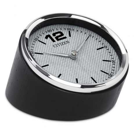 Circular Desk Clock Carbon Fiber Dial - Citizen Clocks CC1013