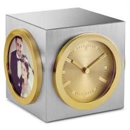 Rotating Desk Clock and Picture Frame - Citizen Clocks CC1019