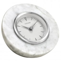 Whhite Marble Half-Sphere Clock - Citizen Clocks CC1020