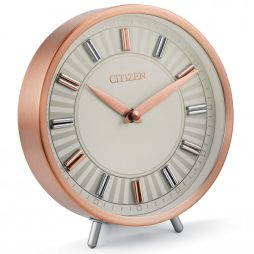 Decorative Rose Gold-Tone Table Clock - Citizen Clocks CC1021