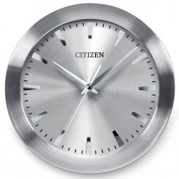 "Silver 12"" Wall Clock - Sweep Second Hand - Citizen Clocks CC2003"