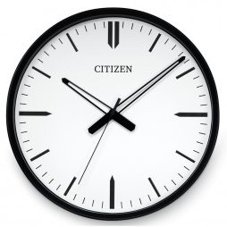 "Citizen 16.5"" Wall Clock - Black Frame - Citizen Clocks CC2005"