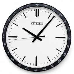 "Citizen 13.5"" Wall Clock - Black Frame - Citizen Clocks CC2006"