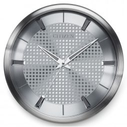 "Citizen Silver 14"" Wall Clock - Citizen Clocks CC2008"