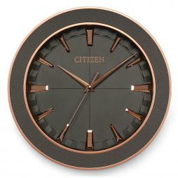 "Metal and Leather 13"" Wall Clock - Citizen Clocks CC2011"