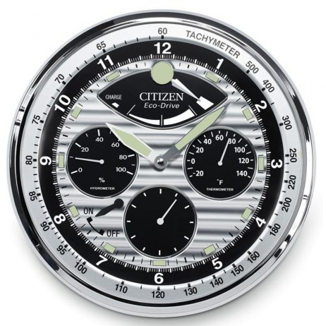 Citizen Wall Clock with Hygrometer and Thermometer