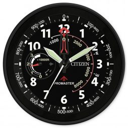 "Citizen Black 13.5"" Wall Clock - CC2014"
