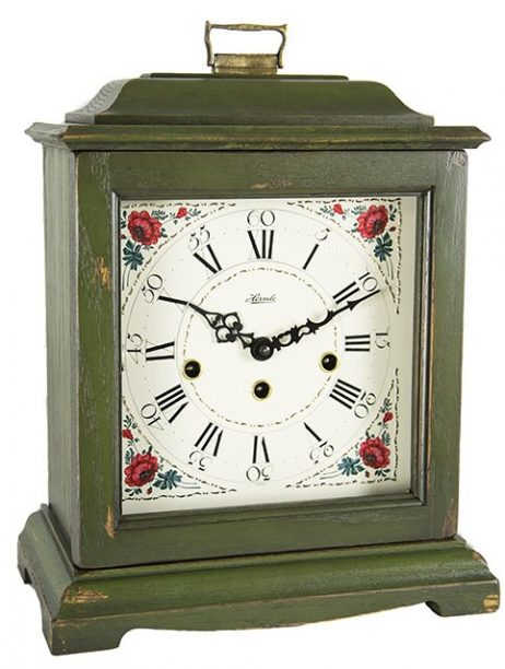 Austen Mechanical Bracket Clock - Dark Green Hermle 22518DG0340