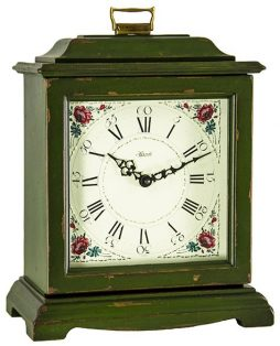 Austen Quartz Bracket Clock - Dark Green Hermle 22518DGQ