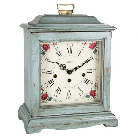 Austen Mechanical Bracket Clock - Light Blue - Hermle 22518LB0340