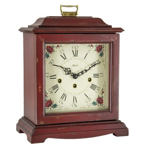 Austen Mechanical Bracket Clock - Red Hermle 22518RD0340