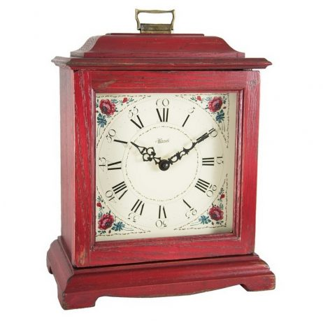 Austen Quartz Bracket Clock - Red Hermle 22518RDQ 22518RD2114