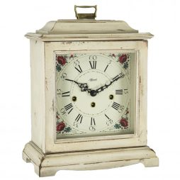 Austen Mechanical Bracket Clock - White - Hermle 2518WH0340