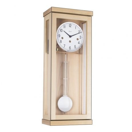 Carrington Regulator Wall Clock -1/2 Hr. Strike - Maple - Hermle 70989090141