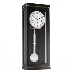Carrington Regulator Wall Clock - Black - Hermle 70989740141
