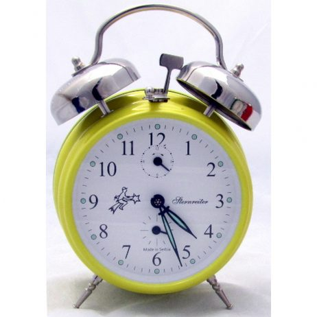 Sternreiter Double Bell Alarm Clock - Yellow MM 111 602 38