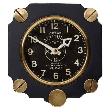 Altimeter Wall Clock - Black- Pendulux WCALTBK
