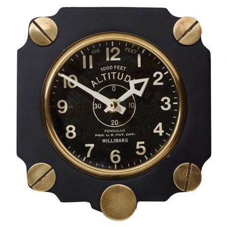 Altimeter Wall Clock - Black- Pendulux WCALTBK