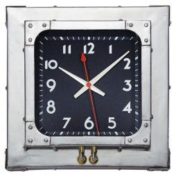 "Detroit 16.5"" Square Wall Clock - Pendulux WCDETAL"