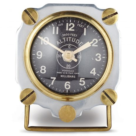 Altimeter Table Clock - Aluminum - Pendulux TCALTAL