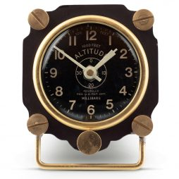 Altimeter Table Clock - Black - Pendulux TCALTBK