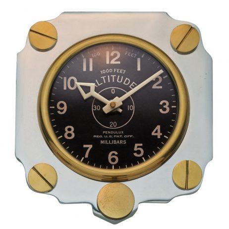 Altimeter Wall Clock - Aluminum - Pendulux WCALTAL
