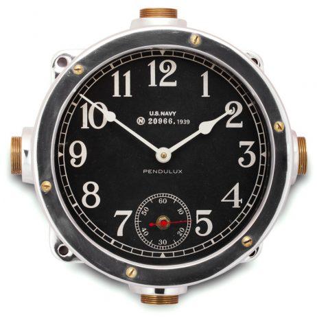 Navy Aluminum Master Clock - Pendulux WCNAVAL