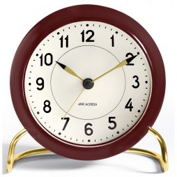 Arne Jacobsen - Station Alarm Clock - Burgundy RD-43676