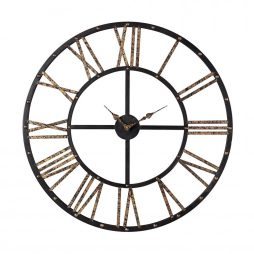 Metal Framed Roman Numeral Open Back Wall Clock - Sterling 129-1024