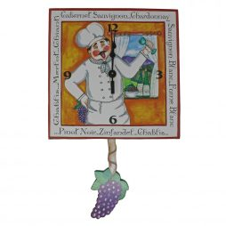 Winemaker Pendulum Wall Clock - Laughing Moon 248P