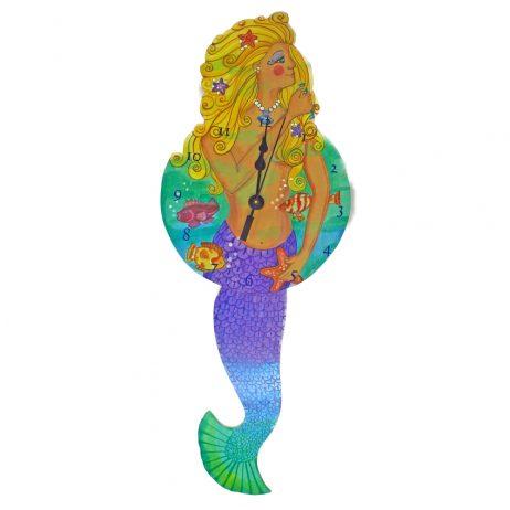 Mermaid Wall Clock - Laughing Moon 250P