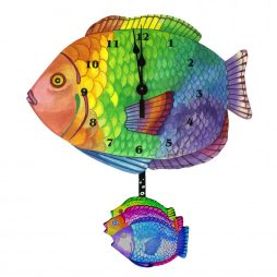 Tropical Fish Wall Clock - Laughing Moon 254P