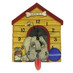 Lucky Dog House Wall Clock - Laughing Moon 268P