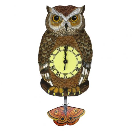 Owl Wall Clock - Laughing Moon 273P