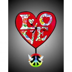 Love & Peace Wall Clock - Laughing Moon 293