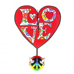 Love & Peace Wall Clock - Laughing Moon 293P