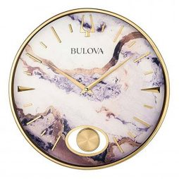 Stonemont 15.75 inch Decorative Wall Clock | Bulova C4864