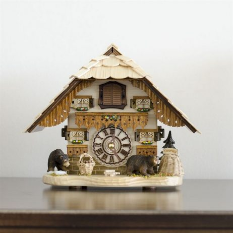 Hermle Bendorf German Mantel Cuckoo Clock 66000