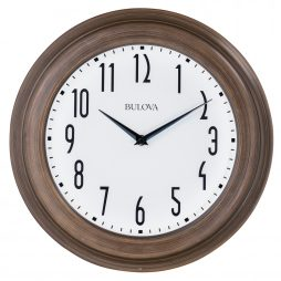 Bulova Beacon 14 inch Wall Clock C4863
