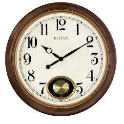 Bulova Jefferson 20 inch Pendulum Wall Clock C4868
