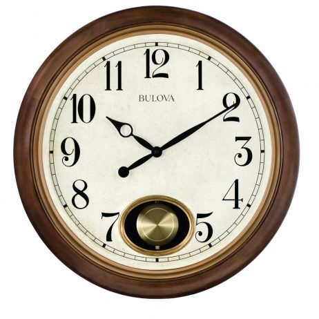 Bulova Jefferson 20 inch Pendulum Wall Clock C4868