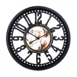 "Station Master Oversize 24"" Wall Clock - Bulova C4871"