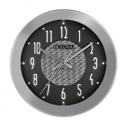 ... Fantasmic Indoor - Outdoor Wall Clock Bluetooth Speaker Bulova C4878 - Lit